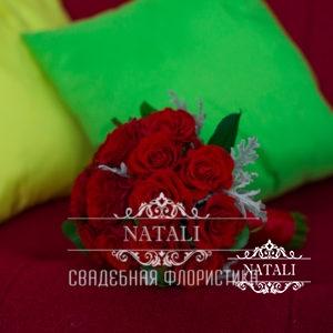 Букет свадебный из красных роз