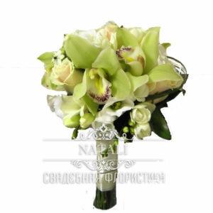 Свадебный букет с орхидеи