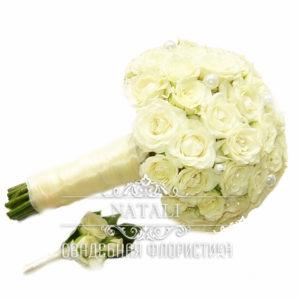 Свадебный букет белый