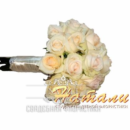 Свадебный букет светлый нежный