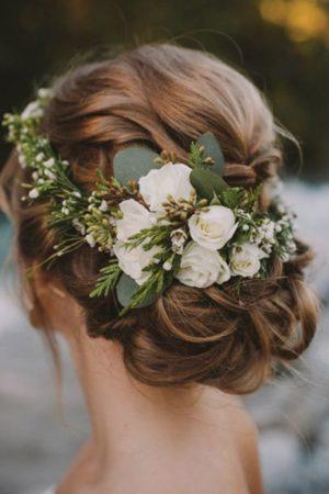 веночек для свадебной прически невесты