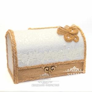 Свадебный сундучок для денег в этно стиле