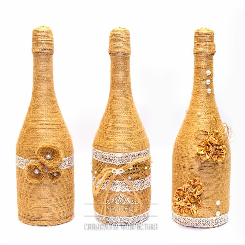 Свадебное шампанское в этно стиле
