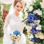 невеста, свадебный букет, свадебная арка