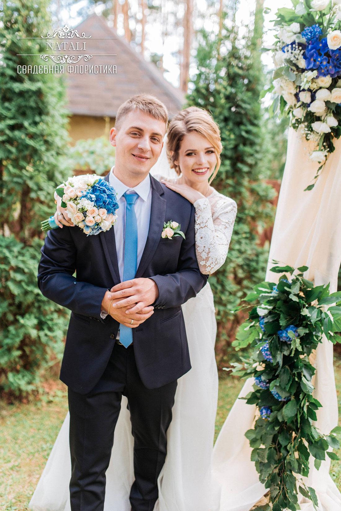 невеста, свадьба, арка, свадебный букет