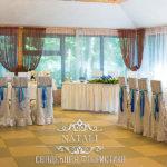 оформление свадебного зала в синем цвете