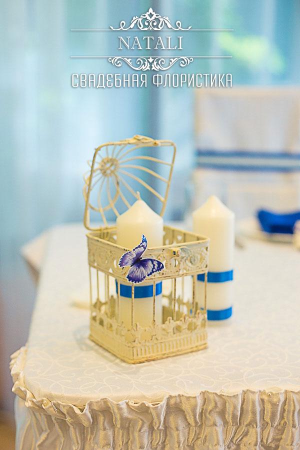 декоративная клетка на стол молодоженов