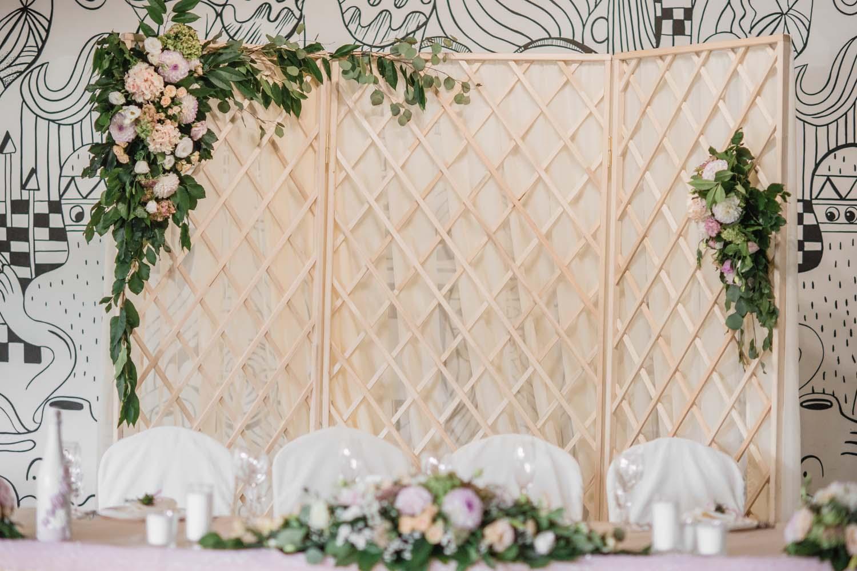 Фото свадебной ширмы с цветами