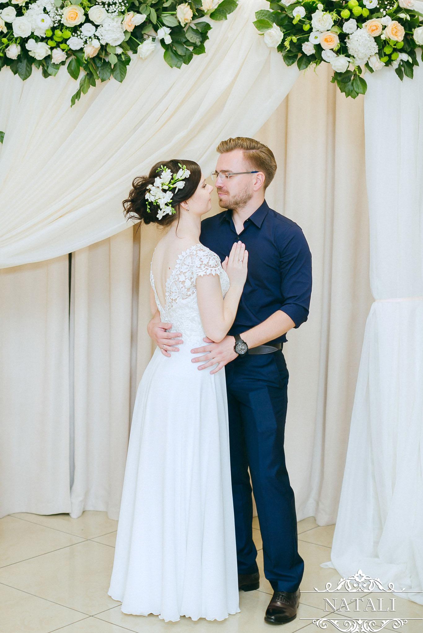 Свадебное оформление в светлых тонах