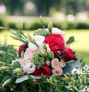 Классический вариант свадебного европейского букета