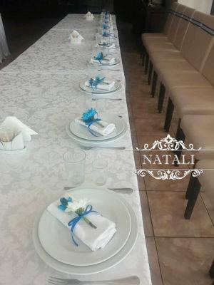 Оформление в синем цвете ресторана Козачок на Совках